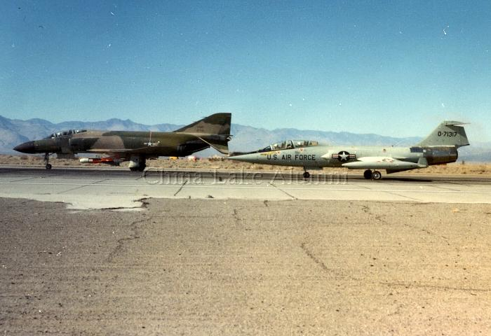 F-4D Phantom and F-104D Starfighter